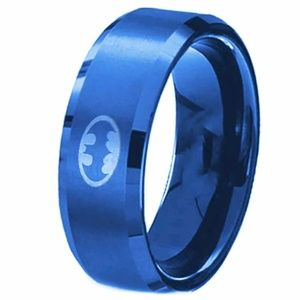 Other - Stainless Steel Blue Titanium Ring/Band Batman